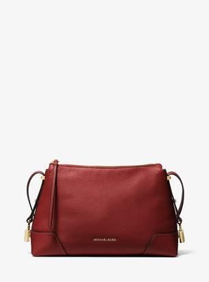 MICHAEL Michael Kors Crosby Medium Pebbled Leather Messenger
