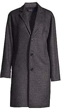 Polo Ralph Lauren Women's Wool-Blend Plaid Peacoat
