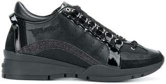 DSQUARED2 glitter panelled sneakers
