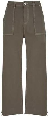 Mint Velvet Madison Khaki Utility Jeans