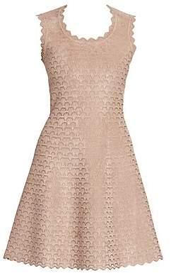 Alaia Women's Moonlight Sleeveless Short Jacquard A-Line Dress