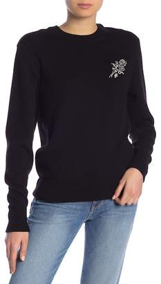 Frame Embroidered Crew Neck Sweatshirt
