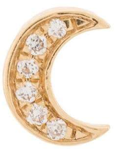 Loquet 18kt gold Diamond Moon Charm necklace