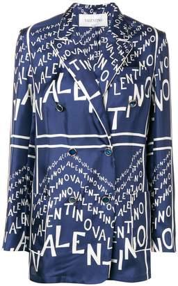 Valentino logo motif blazer