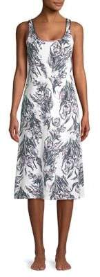 Lord & Taylor Floral-Print Cotton Long Chemise