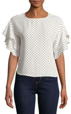 Vince Camuto Tiered Ruffle-Sleeve Blouse