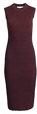 Victoria Beckham Women's Sleeveless Double Crewneck Knit Sheath
