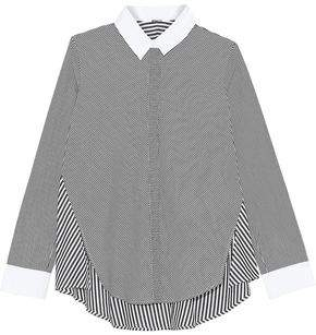 ADAM by Adam Lippes Paneled Striped Cotton-Poplin Shirt