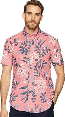 Reyn Spooner Men's Perennial Pareau Weekend Wash Tailored Fit Hawaiian Shirt
