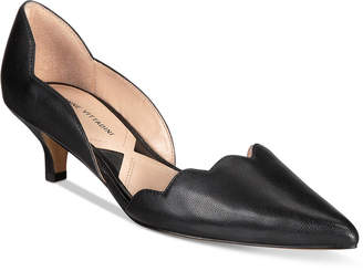 Adrienne Vittadini Serene Scalloped Kitten-Heel Pumps Women's Shoes