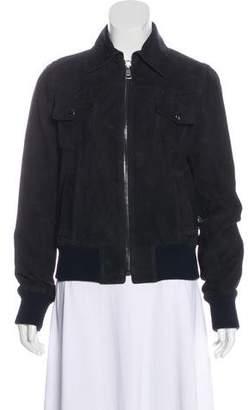 Dolce & Gabbana Suede Collared Jacket