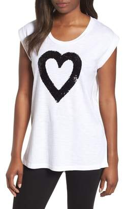 Kenneth Cole New York Sequin Heart Top