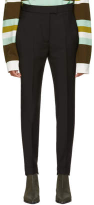 Acne Studios Black High-Waisted Cuffed Trousers