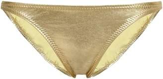 Norma Kamali Metallic Low-rise Bikini Briefs