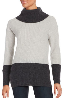 Lord & Taylor Colorblocked Cashmere Sweater $240 thestylecure.com