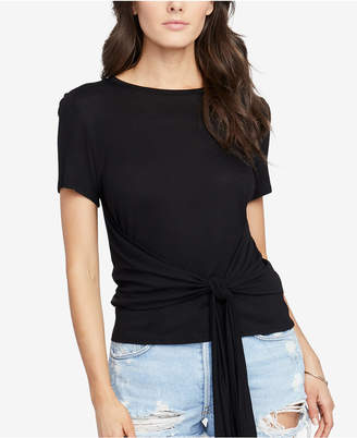 Rachel Roy Cropped Tie-Front T-Shirt