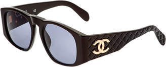 Chanel Black Quilted Acrylic Sunglasses