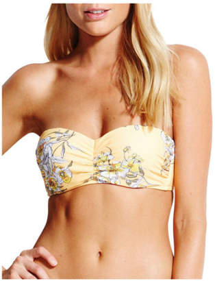 Seafolly NEW Bustier Bandeau Yellow