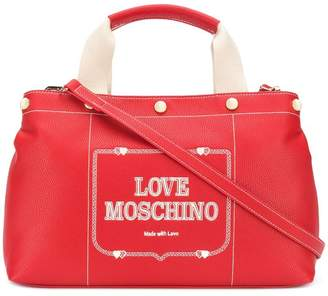 Love Moschino logo top-handle tote