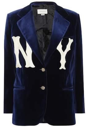 Gucci NY Yankees velvet blazer