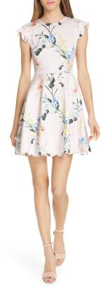 Ted Baker Karsali Elegance Scallop Skater Dress