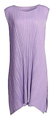 Pleats Please Issey Miyake Women's Mellow Pleats Sleeveless Swing Dress