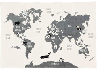 Hm rugs shopstyle hm world map motif cotton rug gray gumiabroncs Images