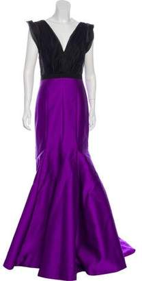 J. Mendel Sleeveless Semi-Sheer Gown