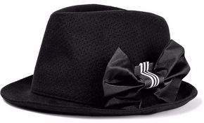 Y-3 + Adidas Bow-Detailed Perforated Wool And Cashmere-Blend Fedora