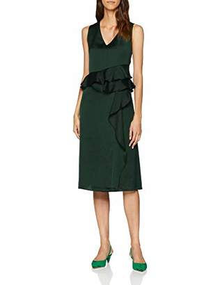 Great Plains Women's Sarah Frill Party Dress, (Winter Green), (Size: X-Large)
