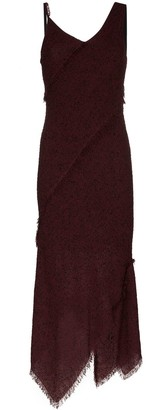 Roland Mouret asymmetric bouclé midi dress