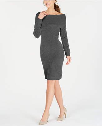 Nine West Off-The-Shoulder Sweater Dress