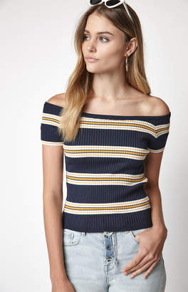 La Hearts Striped Sweater T-Shirt