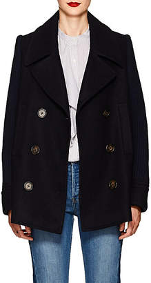 Derek Lam 10 Crosby Women's Double-Breasted Felt Peacoat - Dk. Blue