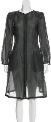 Giorgio Armani Silk Knee-Length Dress