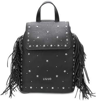 Liu Jo star studded fringed backpack