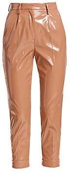 No.21 No. 21 No. 21 Women's PVC Cropped Ankle Pants