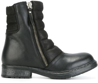 Diesel round toe zipped boots $281.43 thestylecure.com