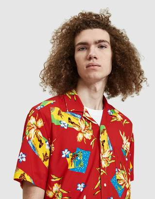 Gitman Brothers Aloha Rayon Camp Shirt in Red