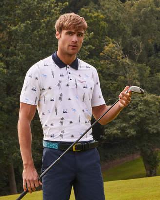 ONEPUT Golf print polo shirt