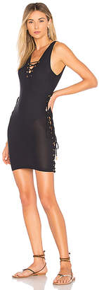 Luli Fama Lace Up Dress