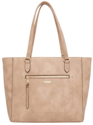 At Ebay Jag New Sch Zip Top Tote Bag Taupe