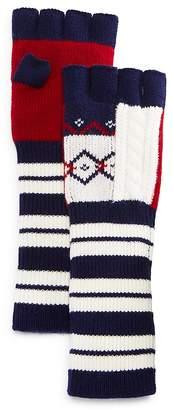 Burberry Cable Fair Isle Fingerless Gloves