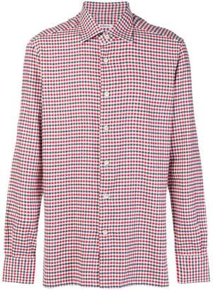 Kiton plaid button shirt