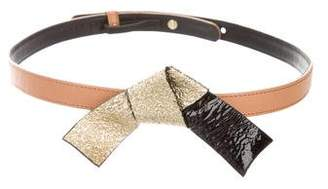 Mayle Bow-Accented Leather Belt