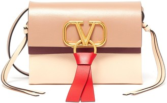 Valentino 'VRing' tassel colourblock leather crossbody bag