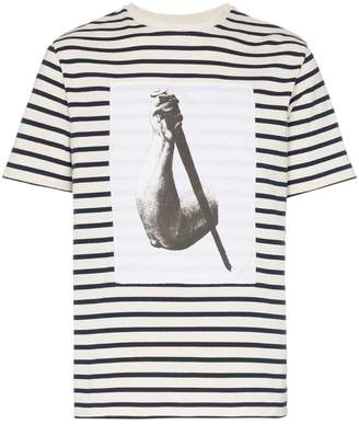 J.W.Anderson Durer arm print Breton stripe cotton t shirt
