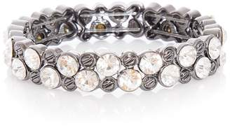 Quiz Gunmetal Diamante Stretch Bracelet