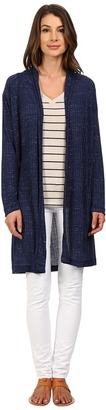 Nally & Millie Long Sleeve Midi Cardigan with Pleated Back $86 thestylecure.com