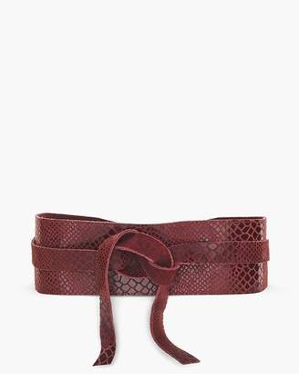 Chico's Chicos Red Faux-Snakeskin Belt